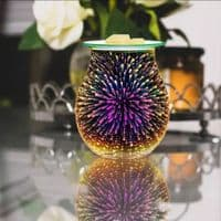 3D Electric LED Holographic Aroma Touch Lamp Wax Melting Burner
